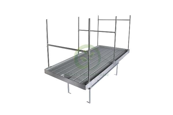 Greenhouse Plant Support Staggerd Crossbars
